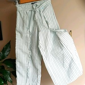 Jean Bourget Girls-5 Striped Wrap/Tie Pants